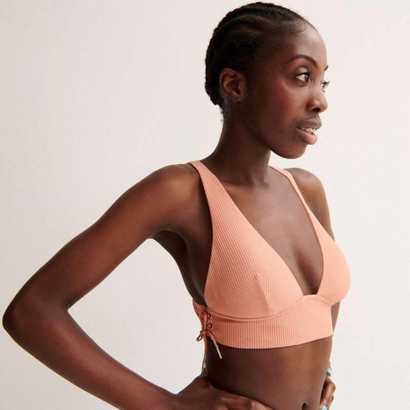 Aya x undiz bra with bow - nude pink;