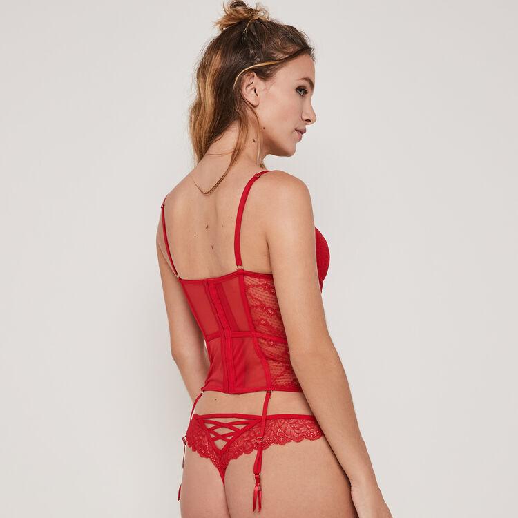 Solairaliz lace push-up basque;