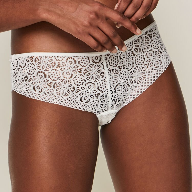 Ethnobiz lace hipsters with jewel detail;
