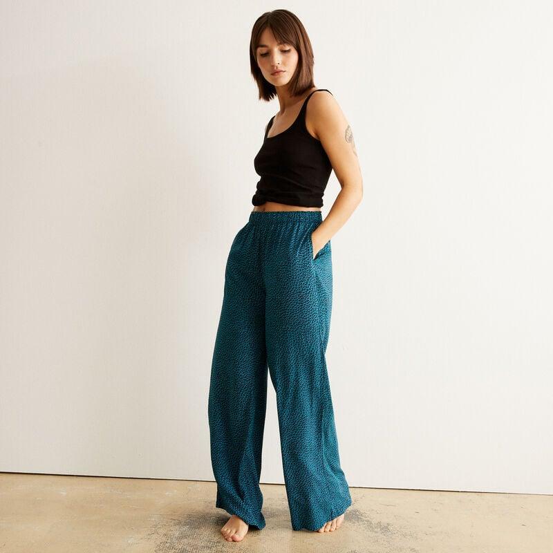 animal print trousers - green;