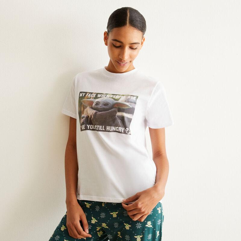 Baby Yoda short-sleeved pyjama set - white ;