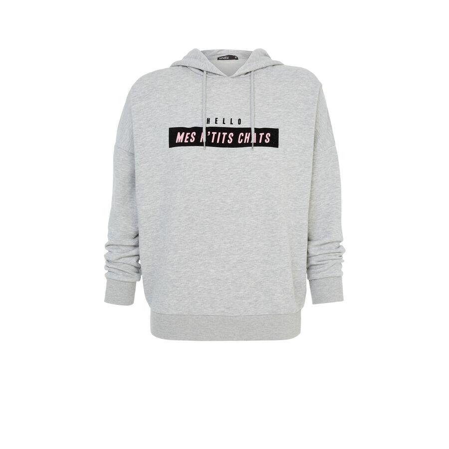 Gray hellochatiz sweatshirt;