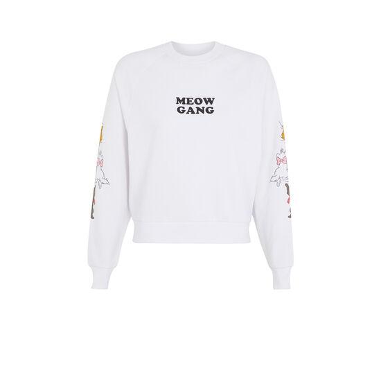 Troublediz white sweatshirt;