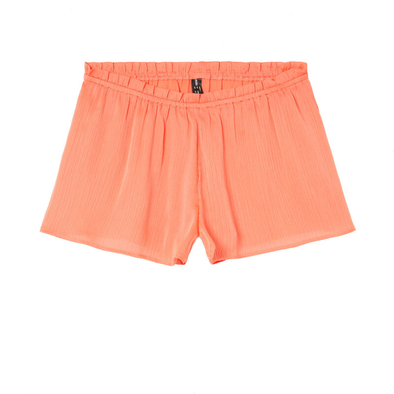 flowing ruffled shorts - red;