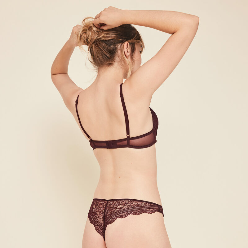 Everydayiz burgundy push-up bra;
