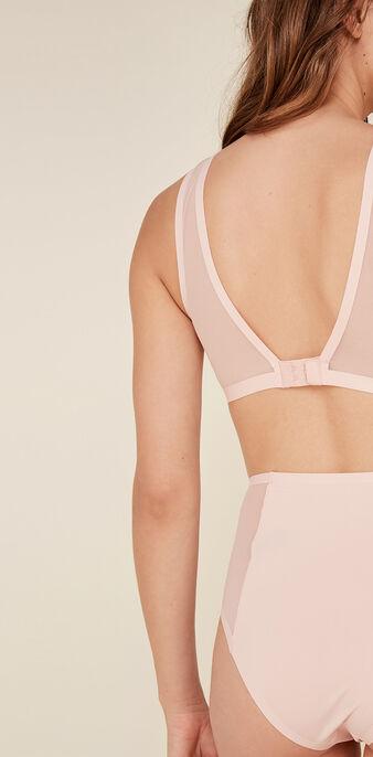 Softcupiz pale pink bralette pink.