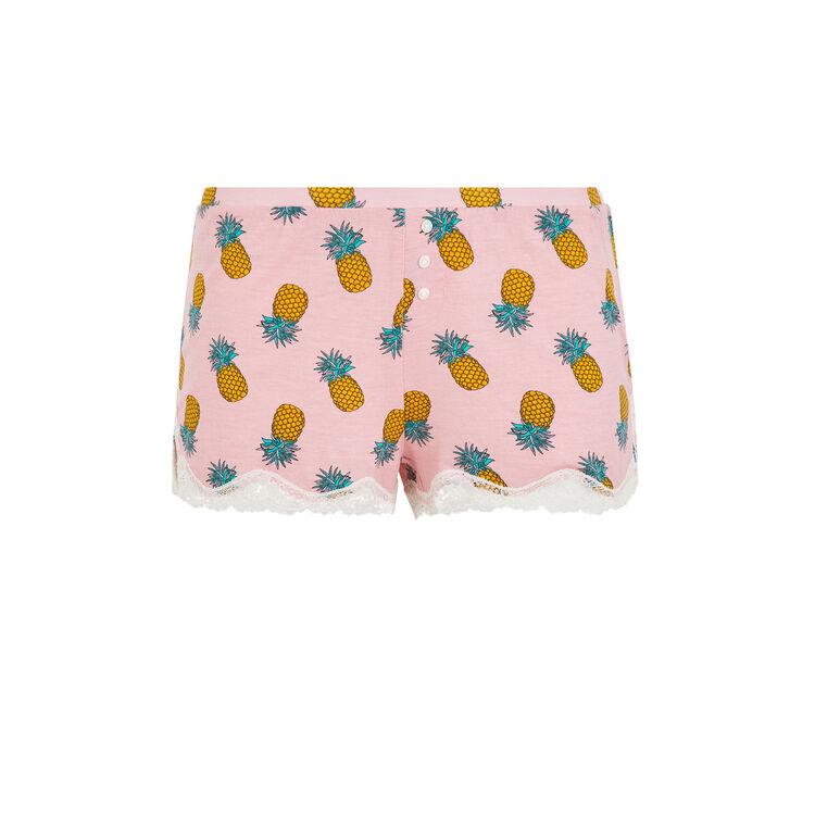 Yellonaniz pineapple print jersey shorts;