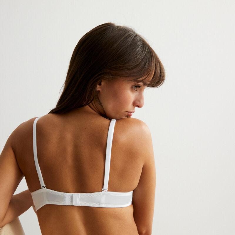 soutien-gorge ampliforme en micro - blanc;
