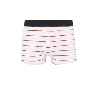 Saumoniz pink boxers with stripes pink.