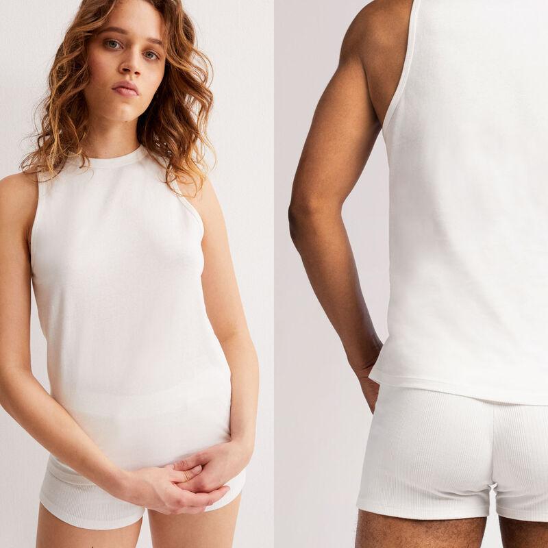 unisex jersey vest - beige;