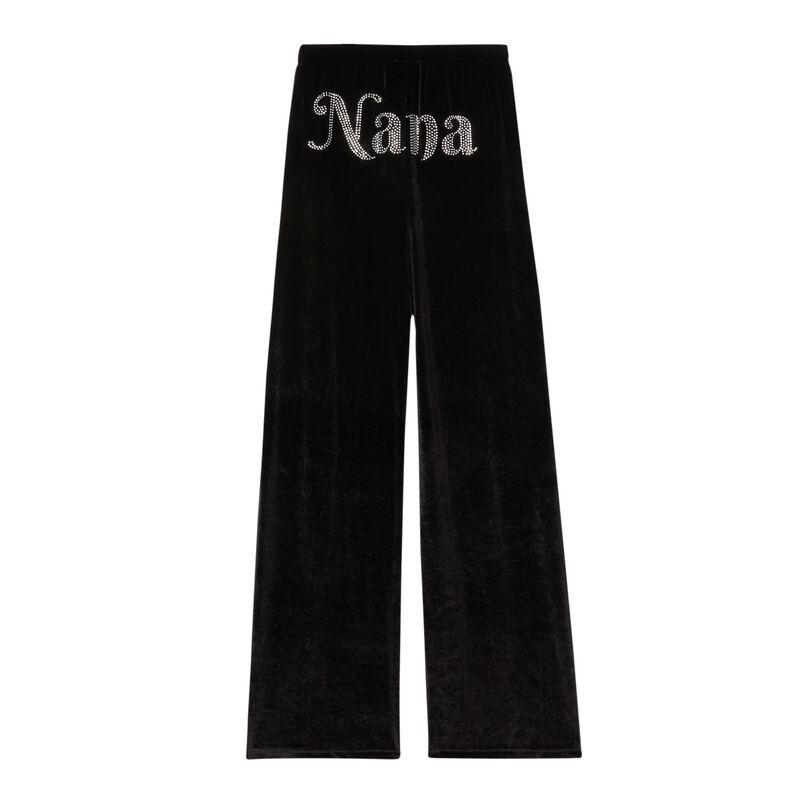 spodnie dresowe Aya x undiz z weluru — kolor czarny;