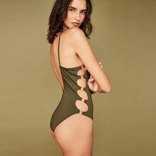 Festivaliz khaki one-piece swimsuit green.