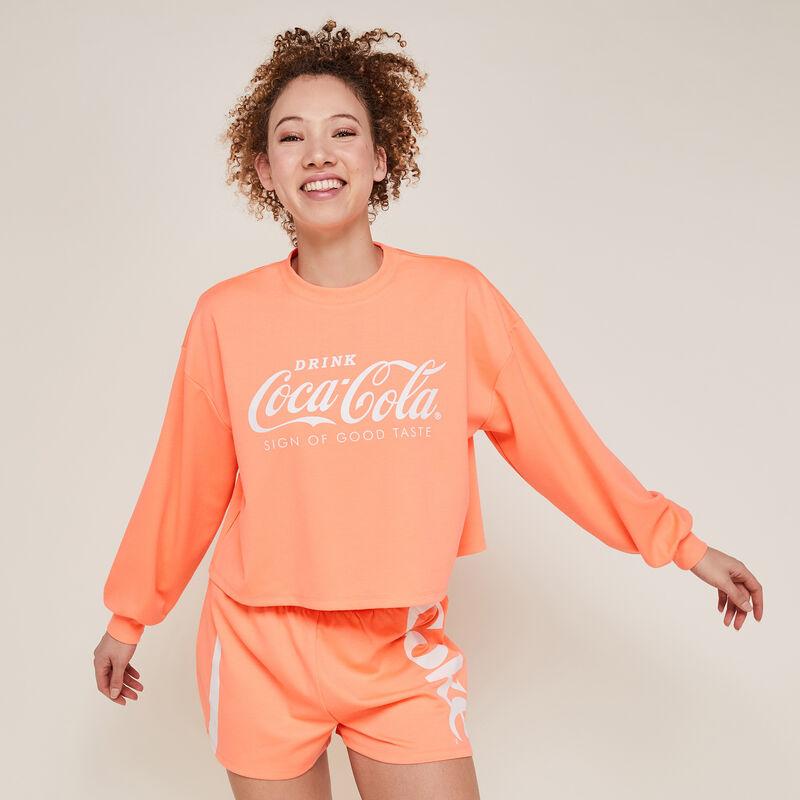 Шорты из мольтона coca-cola - флуоресцентный коралловый;