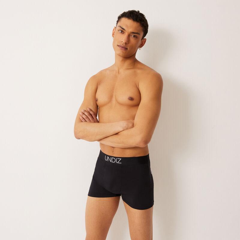 boxer briefs with p'tit cul(pidon) print - black;