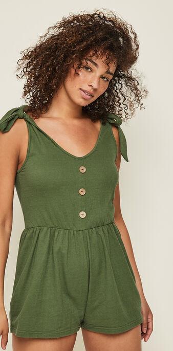 Комбинезон цвета хаки unirondiz green.