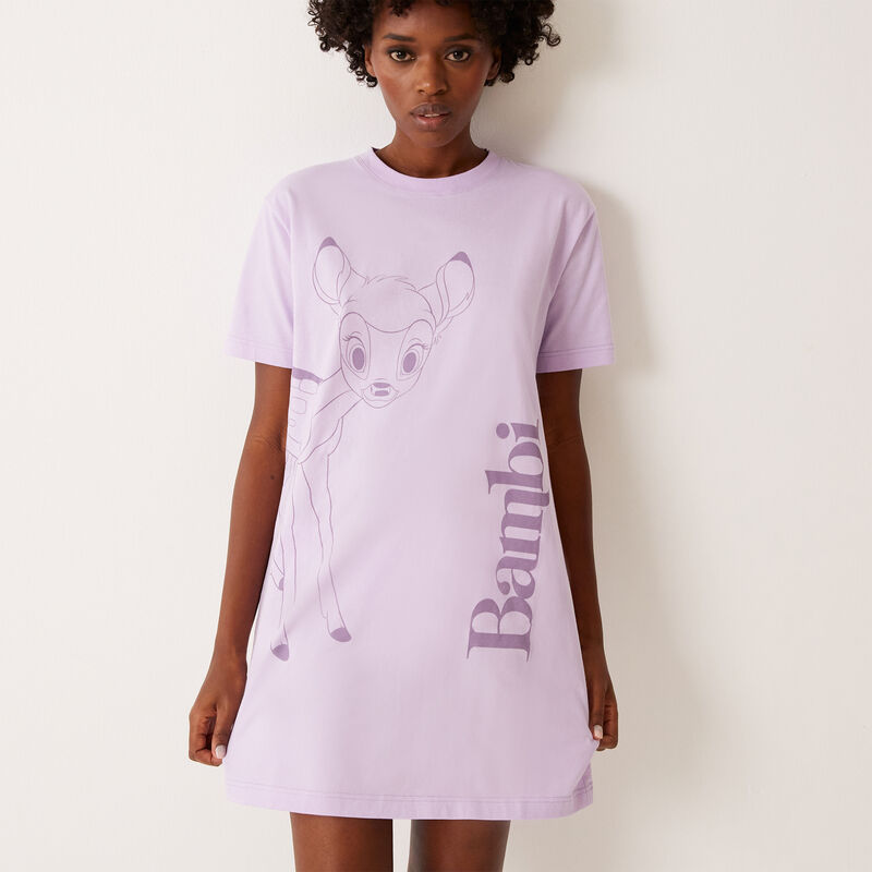 Bambi print tunic - lilac;