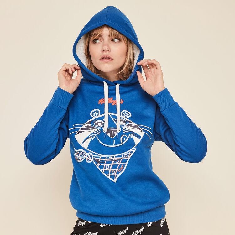 Tonyiz branded Kellogg's hooded sweatshirt;