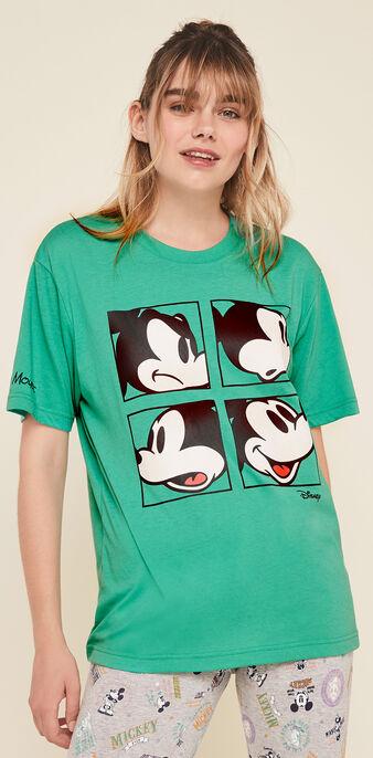 Grumpymickiz short-sleeved mickey print top emerald green.