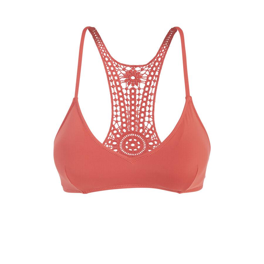 Cookiz coral bikini top;