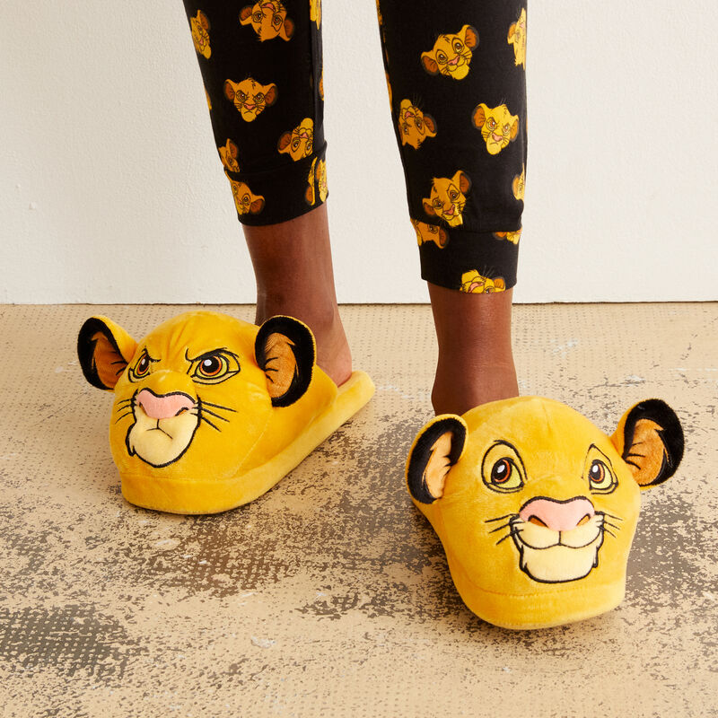 Simba mood slippers - yellow;
