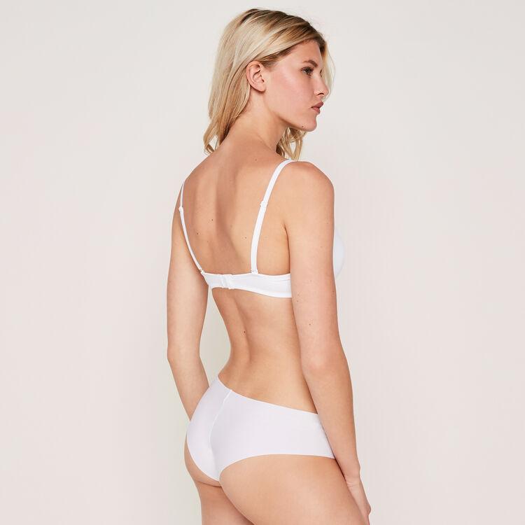 Micro white padded bra;