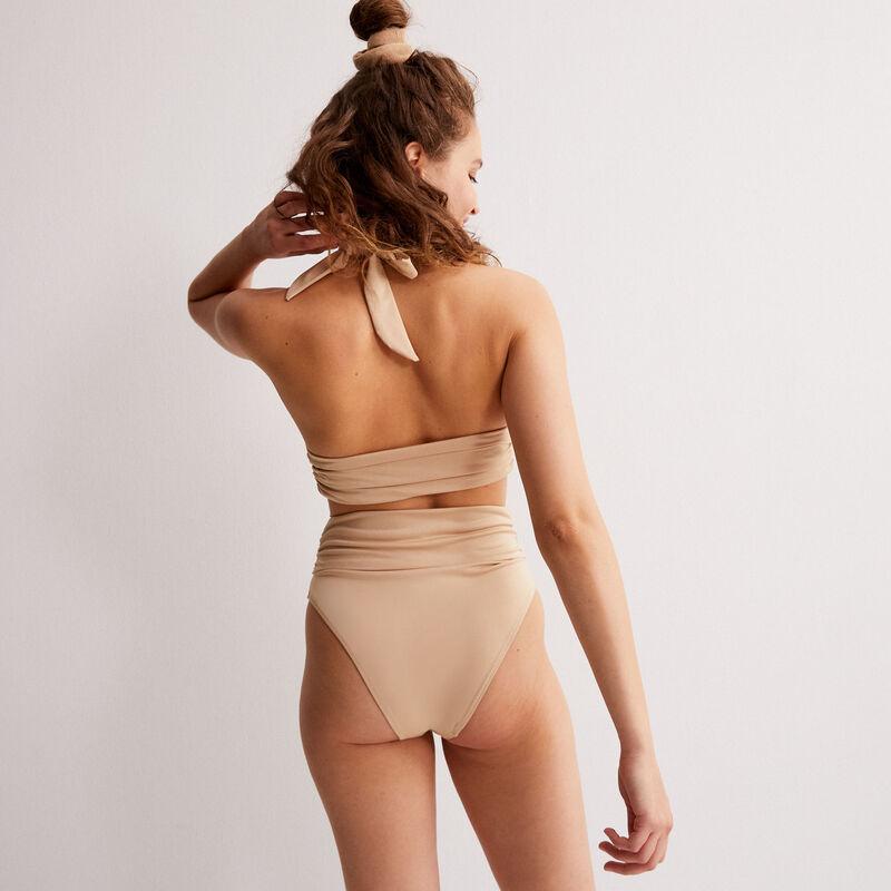 Romy scarf-style bikini bottom - beige;