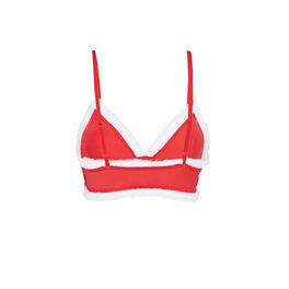 Soutien-gorge triangle rouge santaclubiz red.