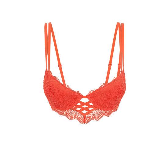 Totoiz coral push-up bustier bra;