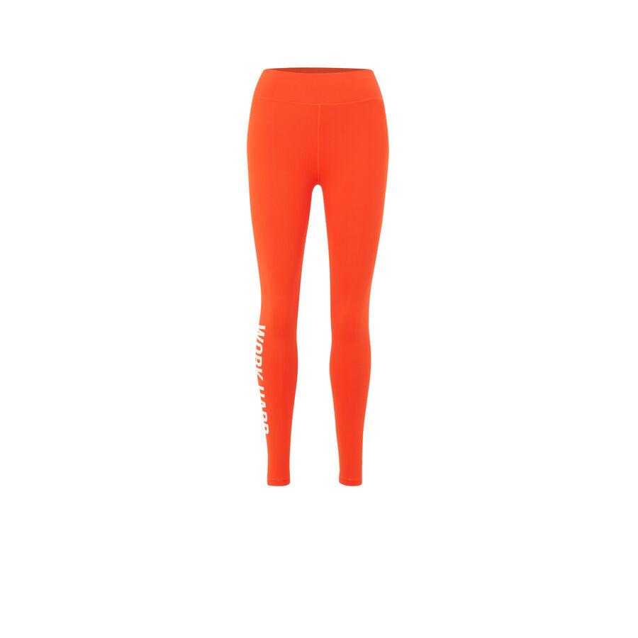 Оранжевые легинсы wordingiz;