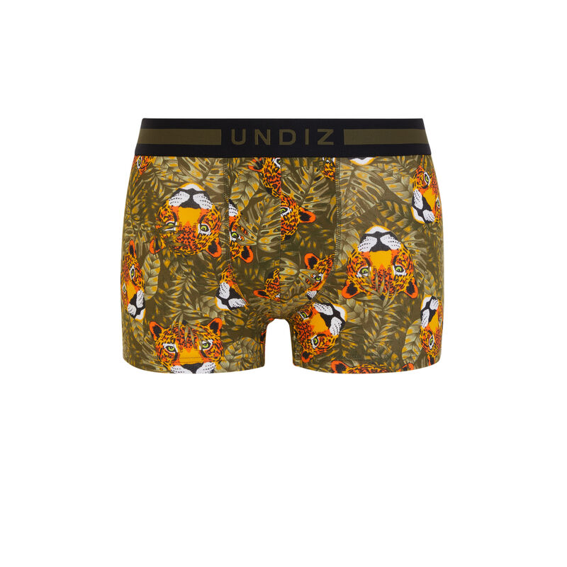 Leopardiz cotton boxers with print;