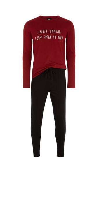 Raliz spain burgundy pyjama set red.