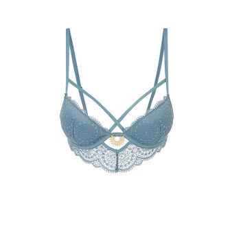 Precieusiz blue push-up bustier bra blue.