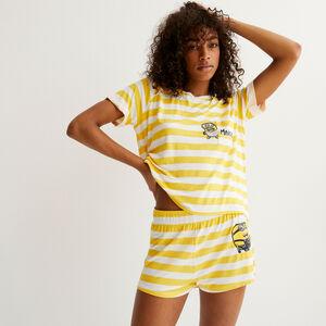 Minions striped shorts - yellow