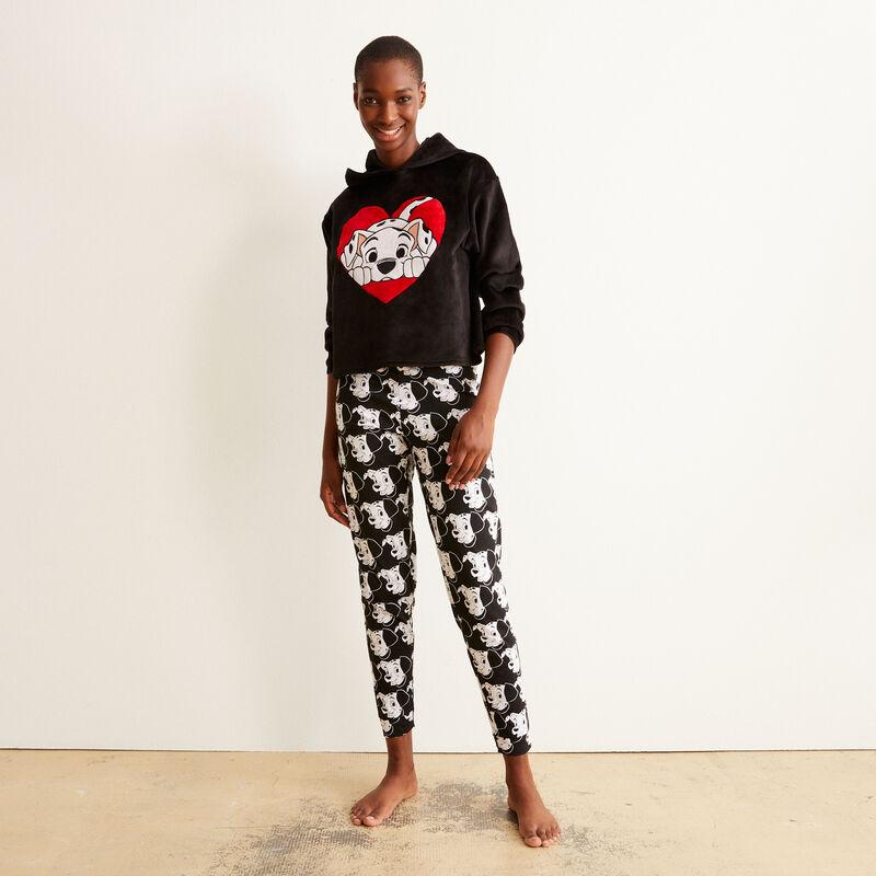 101 Dalmatians fleece sweatshirt - black;