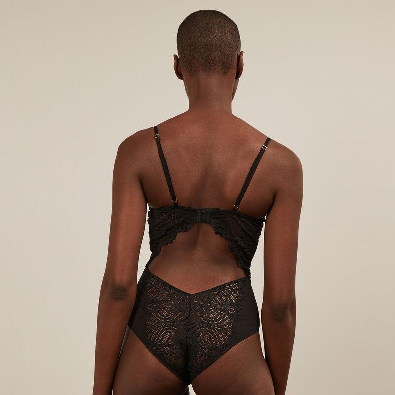 Lace push-up bodysuit - black ;