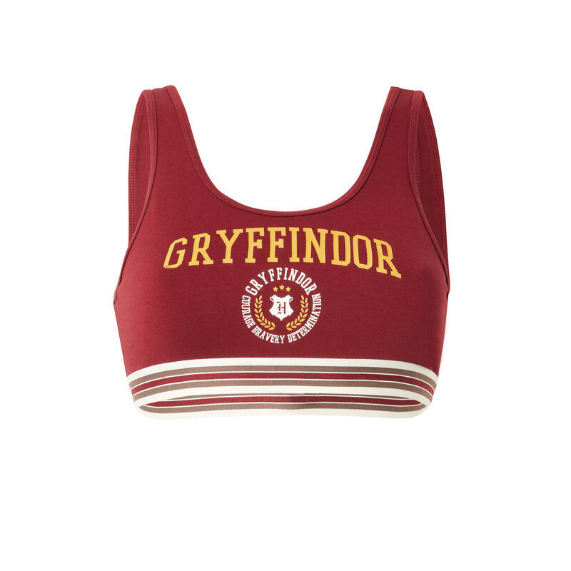 biustonosz z motywem Gryffindoru — kolor bordowy;