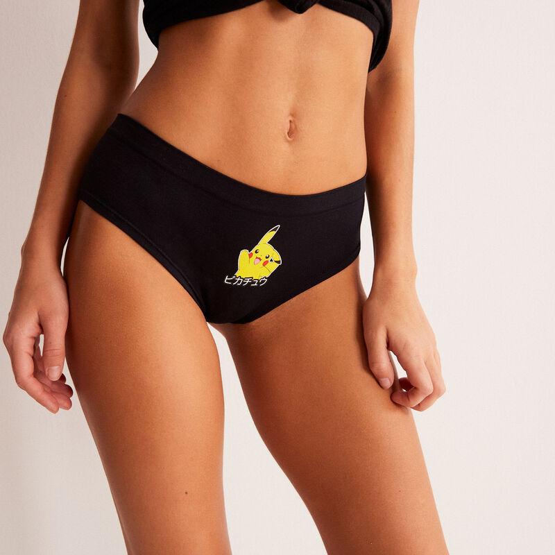 szorty z Pikachu — kolor czarny;