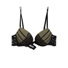 Princiz khaki green push-up bra green.