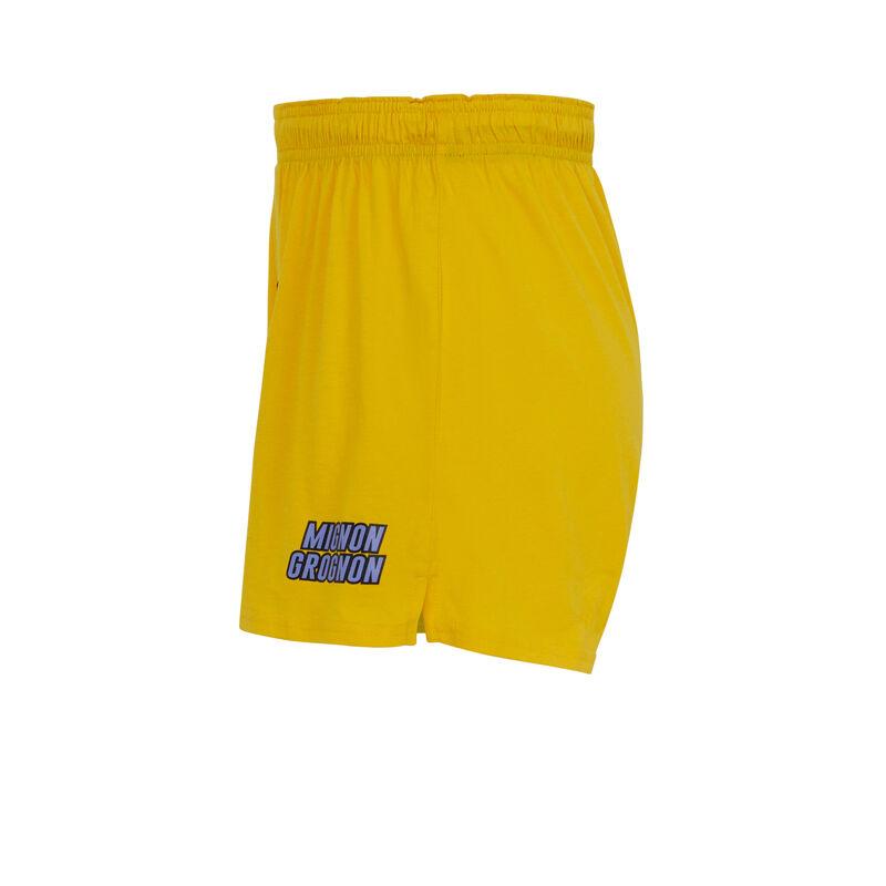 """трусы-боксеры из хлопка """"Милашка и ворчун"""" - желтый;"""