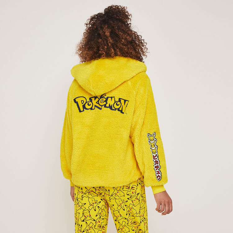 "Куртка из флиса с капюшоном и принтом ""Пикачу"" pikaballiz;"