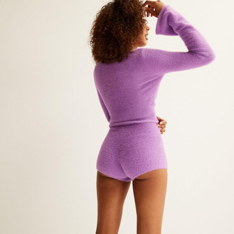 fleece shorts - purple;