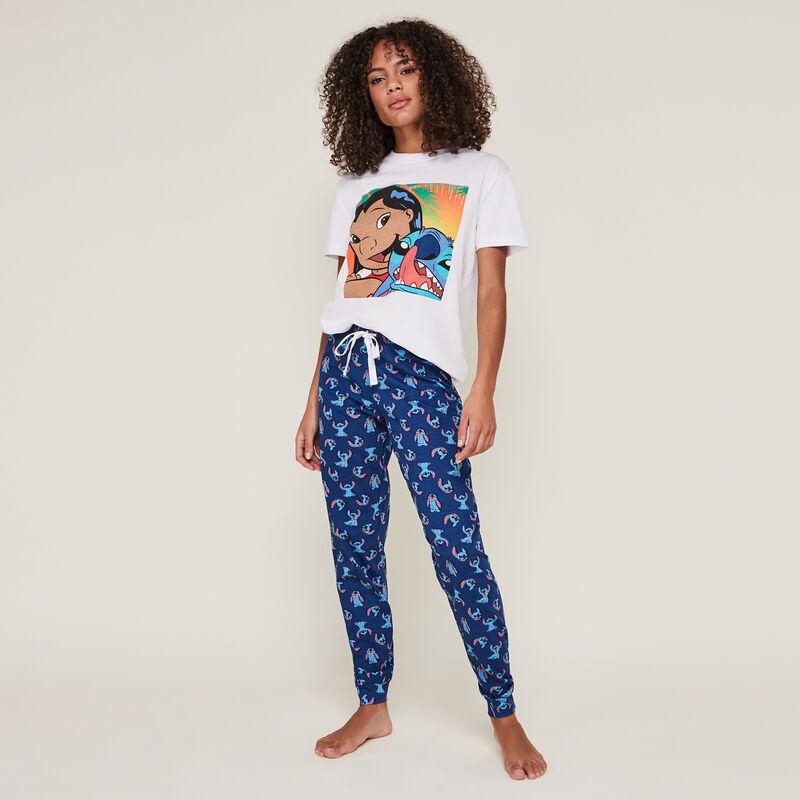 stitchnuagiz stitch print pants;