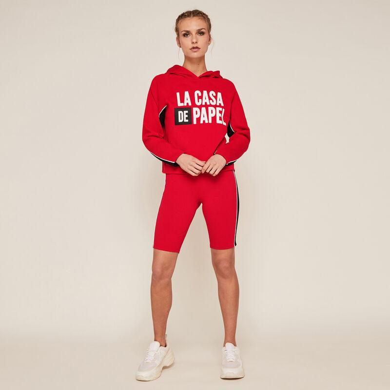 bluza z kapturem Casa de Papel - czerwona;