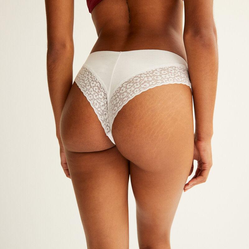 plain cotton tanga - white;