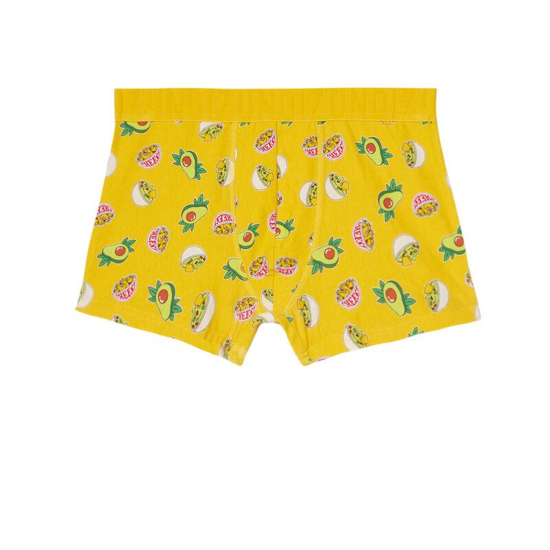 Boxers with nachos print - yellow ;