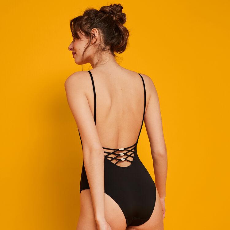 Pachucaniz black swimsuit.;