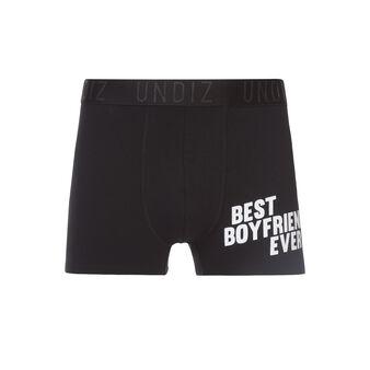 Boyfriz black boxer shorts black.