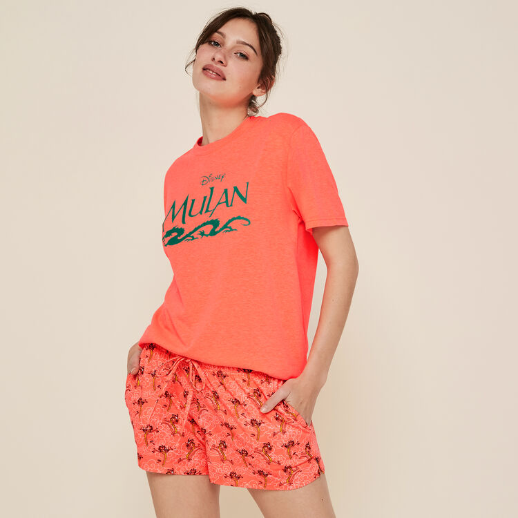 Castmulaniz fluorescent coral shorts;