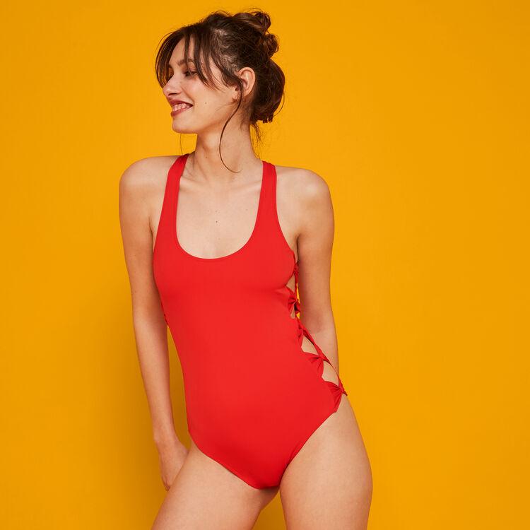 Bangbangiz red one-piece swimsuit;