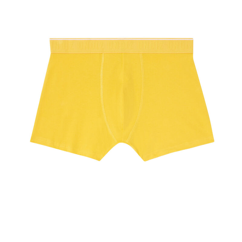 """трусы-боксеры с надписью """"поймай меня"""" - желтый;"""